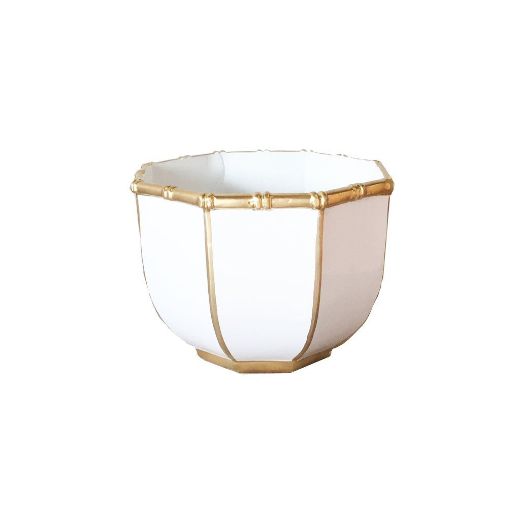 Small Bamboo Bowl in White - ON BACKORDER UNTIL JUNE 2021