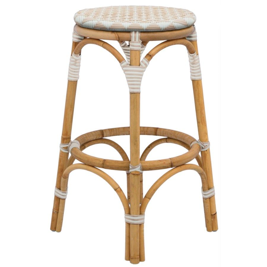 Selamat Designs Pinnacles Counter Stool in White and Blush