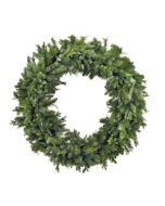 """60"""" Classic Green Faux Pine Holiday Wreath"""