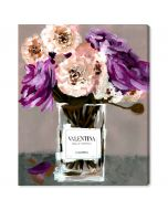 """""""Acqua Florale Plum"""" Fashion Canvas Wall Art - Variety of Sizes Available"""