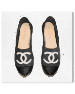 """""""Lady Slippers Black"""" Chanel Inspired Fashion Canvas Wall Art"""