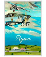Air Show Propeller Planes Canvas Children's Wall Art - Personalization Available