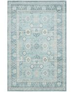 Alpine Blue Area Rug with Floral Motifs - Variety of Sizes Available
