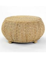 Basket and Seagrass Inspired Hassock Ottoman or Coffee Table