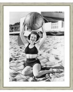 Black and White Beach Beauties Framed Wall Art III-Available in a Variety of Sizes