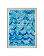 Blue Ocean Waves Abstract Framed Wall Art - Available in 2 Sizes