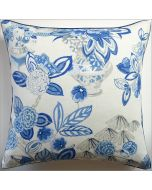 Bouquet in Blue Design Square Decorative Pillow – Available in Two Sizes