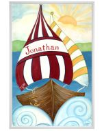Boy of the Sea Sailboat Canvas Children's Personalized Wall Art