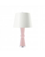Bungalow 5 Flared Vase Clarissa Table Lamp in Blush Pink