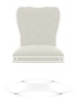 Bunny Williams Elgin Hollywood Regency Dining Chair with Nailhead Trim - More Fabrics & Finishes Available