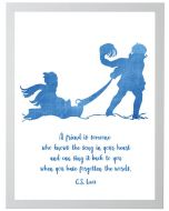 C.S. Lewis Quote Children's Wall Art With Size and Framing Options