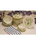 Hand Painted Personalized Chinoiserie New Puppy Dog Bowl & Treats Canister Set