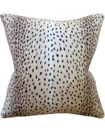 Classic Black Doe Animal Print Decorative Square Throw Pillow - Available in Two Sizes
