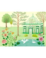 Conservatory Park and Pond Scenic Children's Mural Wall Decal