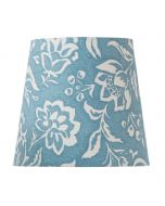 Cottage Blue Lamp Shade with Oversize Floral Design