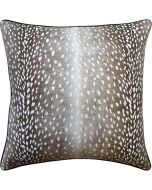 Doe Animal Print Linen Decorative Pillow in Bark Brown – Available in Three Sizes