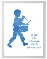 Drummer Boy With Hans Christian Anderson Quote Wall Art With Size and Framing Options