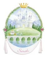 Fairytale Princess Castle Personalized Mural Wall Decal