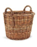 French Country Rattan Woven Log Storage Basket