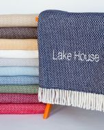 Grain of Rice Fringed Throw - Available in a Variety of Colors - Can Be Personalized