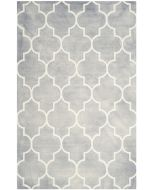 Grey and Ivory Wool Area Rug With Mosaic Design - Variety of Sizes Available