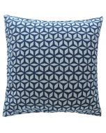 Block Print Cotton Decorative Pillow in Indigo Blue - Available in Different Sizes