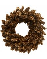 Hand Made Gold Pinecone Wreath