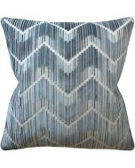 Zig Zag Anniston Peacock Turquoise Chevron Decorative Square Throw Pillow - Available in Two Sizes