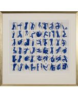 Holly Frean's Pack of Blue Dancers Giclee Wall Art in Gold Frame