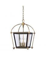 Hudson Valley Lighting Hollis Glass Lantern Four Light Pendant  Available in Two Sizes and Finishes