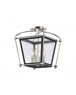 Hudson Valley Lighting Hollis Glass Lantern Semi Flush Ceiling Mount  Available in Two Finishes