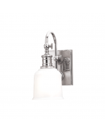 Hudson Valley Lighting Keswick One Light Gooseneck Arm Wall Sconce with Glass Shade  Available in Four Finishes