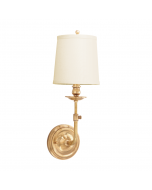 Hudson Valley Lighting Logan One Light Adjustable Traditional Wall Sconce with Hard Back Shade - Available in Brass, Bronze, Nickel