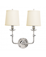 Hudson Valley Lighting Ludlow One Light Wall Sconce with Pleated Shade  Available in Five Finishes