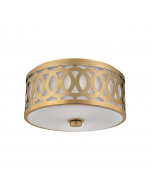 Hudson Valley Lighting Medium Genesee Ceiling Two Light Flush Mount with Scroll Design -   Available in Bronze, Nickel, Brass