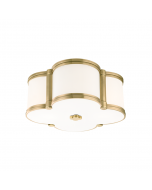 Hudson Valley Lighting Small Chandler Scalloped Quatrefoil Ceiling Flush Mount  Available in Three Finishes