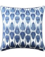 Ikat Throw Pillow in Indigo Blue – Available in Different Sizes