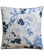 Inisfree Floral Decorative Pillow in Denim Blue – Available in Two Sizes