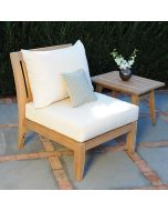 Kingsley Bate Ipanema Outdoor Teak Sectional Armless Chair - ON BACKORDER UNTIL LATE FEBRUARY 2022