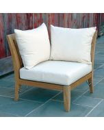 Kingsley Bate Ipanema Outdoor Teak Sectional Corner Chair - ON BACKORDER UNTIL EARLY MARCH 2022