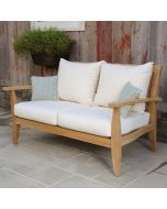 Kingsley Bate Ipanema Outdoor Teak Settee with Cushions - ON BACKORDER UNTIL MARCH 2022
