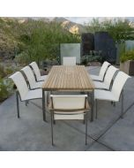 Kingsley Bate Tivoli Outdoor Stainless Steel Rectangular Dining Table - ON BACKORDER UNTIL EARLY MARCH 2022