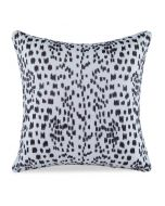 Les Touches Embroidered Speckled Brown Cotton Decorative Pillow