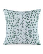 Les Touches Speckled Green Cotton Decorative Pillow - LOW STOCK