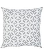 Lattice Motif Linen Decorative Pillow in Grey - Available in Two Sizes