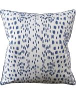 Blue Speckled Square Feather Down Decorative Pillow - Available in Two Sizes