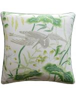 Lotus Garden Decorative Throw Pillow in Leaf Green - Available in Two Sizes