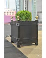 Luxembourg Outdoor Garden Planter in Aluminum with Finials – Available in a Variety of Size and Can be Customized