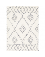 Tribal Pattern Shag Rug in Gray and White - Available in a Variety of Sizes