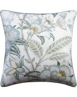 Multicolored Floral Linen Decorative Square Pillow – Available in Two Sizes